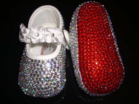 370ec57b5222 Girl s Bling Diamonte Shoes - Blinging Up Baby by Lady Bling   Baby ...